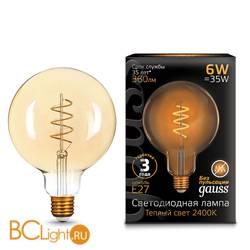 Лампа Gauss LED G120 Flexible E27 6W Golden 360lm 2400К 158802008