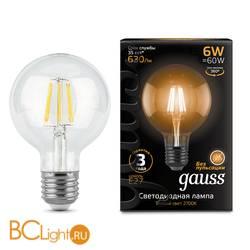 Лампа Gauss LED Filament G95 E27 6W 630lm 2700K 105802106
