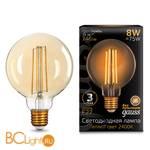 Лампа Gauss LED G95 E27 8W Golden 740lm 2400К 105802008