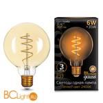Лампа Gauss LED G95 Flexible E27 6W Golden 360lm 2400К 105802007