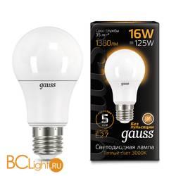 Лампа Gauss LED A60 16W E27 1380lm 3000K 102502116
