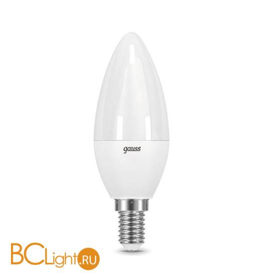 Лампа Gauss LED Elementary Свеча 6W E14 420lm 3000K 33116
