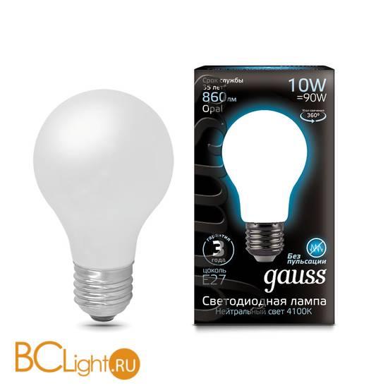 Лампа Gauss LED Filament A60 OPAL E27 10W 860lm 4100К 102202210