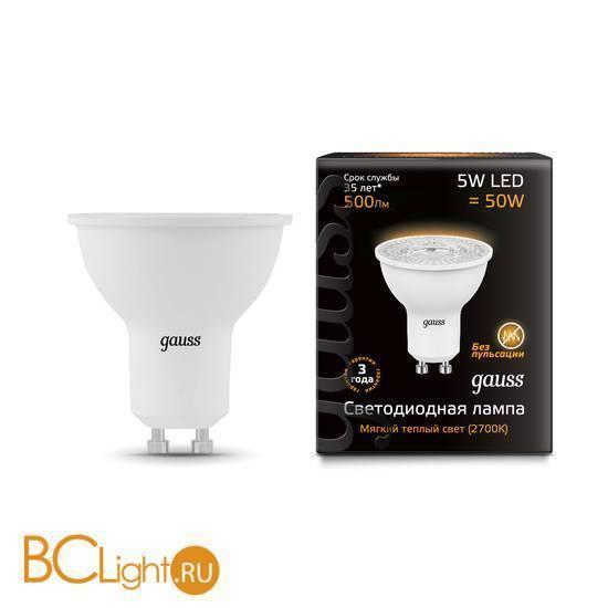 Лампа Gauss LED MR16 GU10-dim 5W 3000K диммируемая 101506105-D