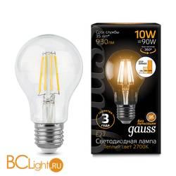 Лампа Gauss LED Filament A60 E27 10W 930lm 2700К 102802110-S