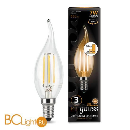 Лампа Gauss LED Filament Свеча на ветру E14 7W 550lm 2700K 104801107-S