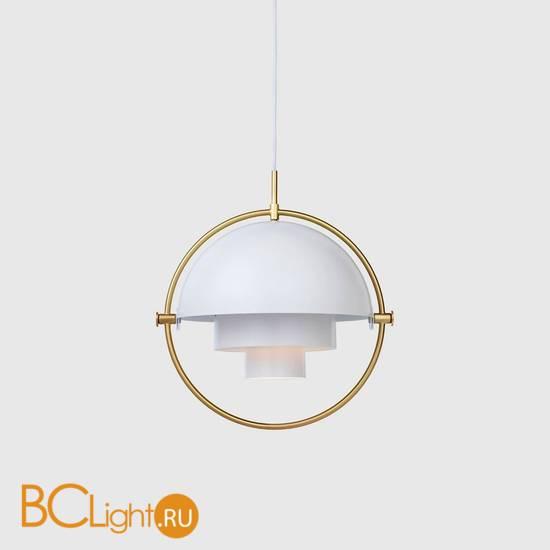 Подвесной светильник Gubi Multi-Lite Pendant Brass White Semi Matt