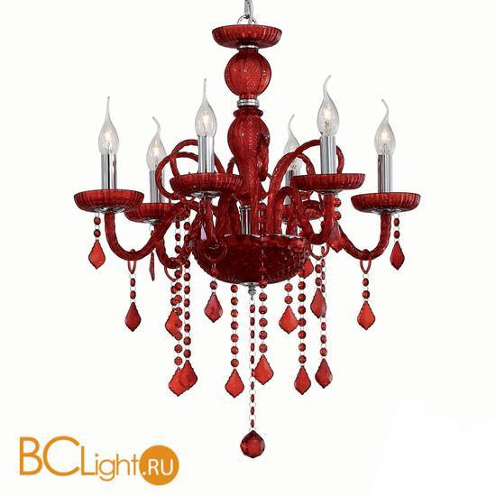 Люстра Ideal Lux Giudecca SP6 Rosso 27418
