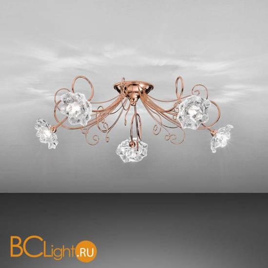 Потолочная люстра IDL Butterfly 543/5PF Copper