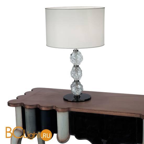 Настольная лампа IDL Charme 600/1LG black nickel ivory tr
