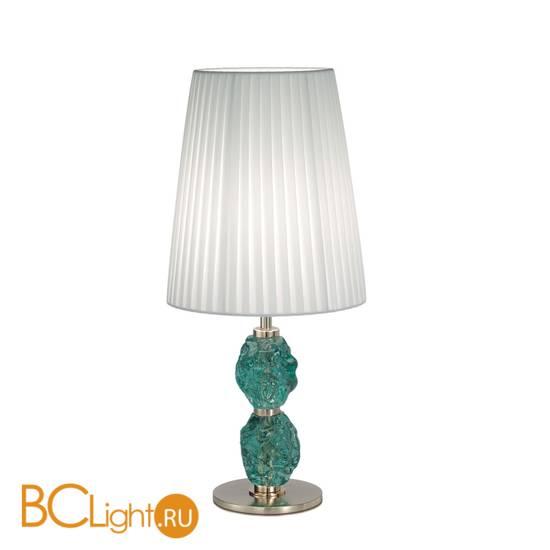 Настольная лампа IDL Charme 601/1LM steel white green