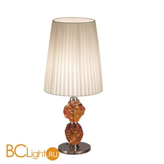 Настольная лампа IDL Charme 601/1LM black nickel ivory amber