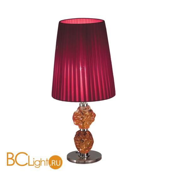 Настольная лампа IDL Charme 601/1LM black nickel red amber