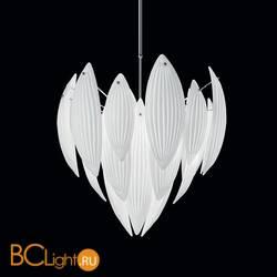 Подвесной светильник IDL Paradise 430/62 Chrome White Murano Glass