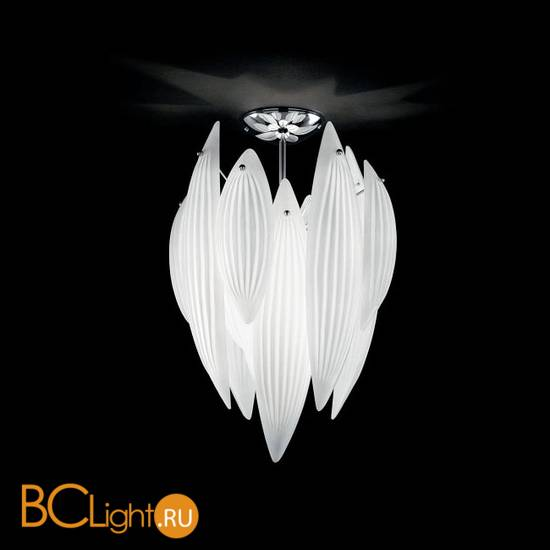 Потолочный светильник IDL Paradise 430/42PF Chrome White Murano Glass