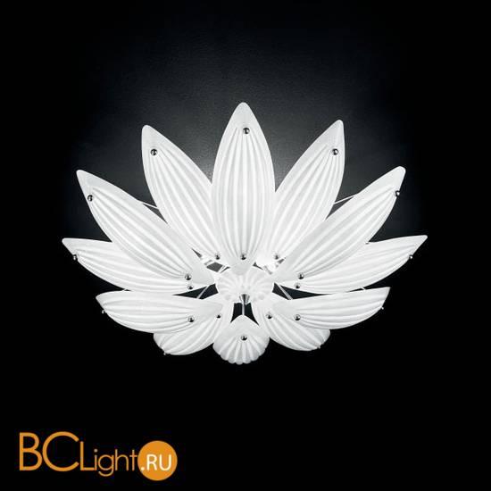 Потолочный светильник IDL Paradise 430/65PF Chrome White Murano Glass