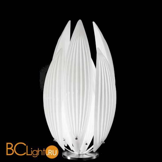 Настольная лампа IDL Paradise 430/1L Chrome White Murano Glass