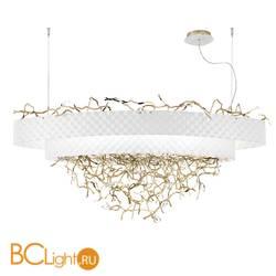 Подвесной светильник IDL Groovy 464/12 white velvet with light gold