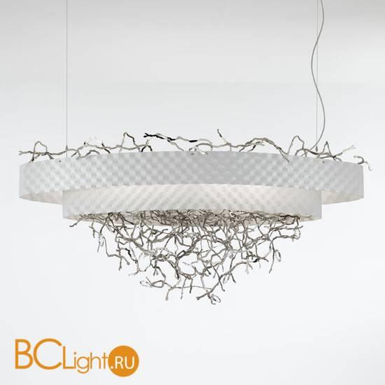 Подвесной светильник IDL Groovy 464/12 white velvet with pure steel