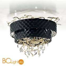 Потолочный светильник IDL Groovy 463/8PF Black leaf / Light gold