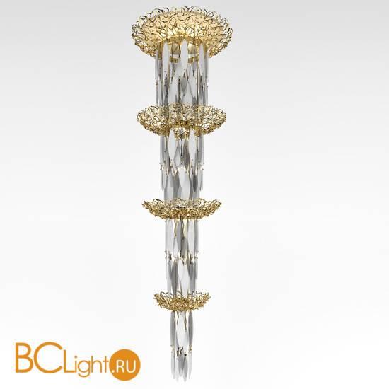 Потолочный светильник IDL Elite 596/28+3 light gold transparent