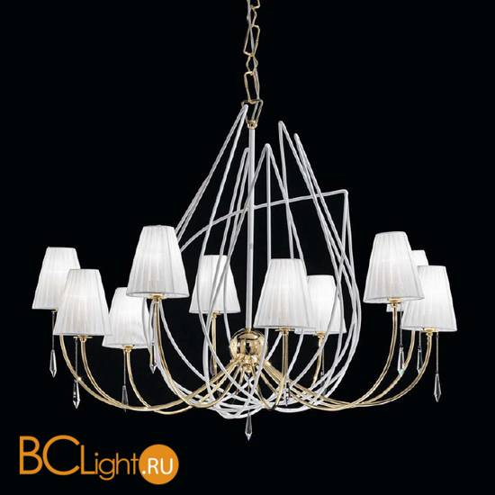 Люстра IDL Flame 524/10 white+gold
