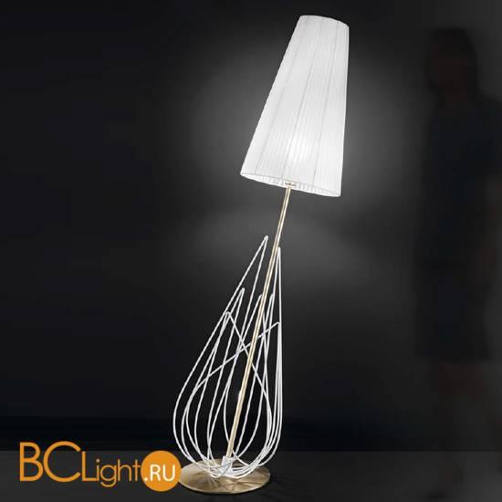 Торшер IDL Flame 524/1P velvet white + light gold / white organza