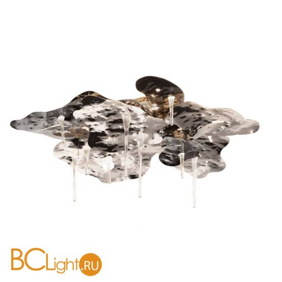 Потолочный светильник IDL Leaves 605/5PF black nickel