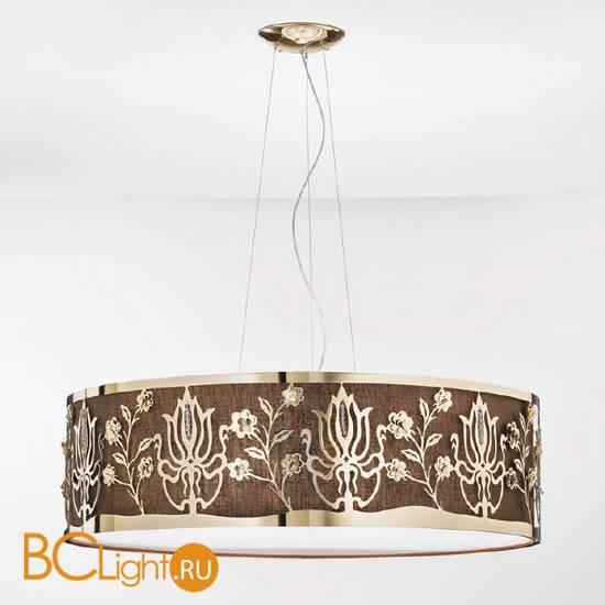 Подвесной светильник IDL Margot 538/100 Light gold+Brown cotton