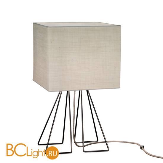 Настольная лампа IDL Seventy 588/1LQ black nickel light jute