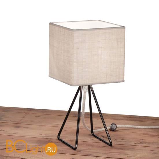Настольная лампа IDL Seventy 589/1L black nickel light jute