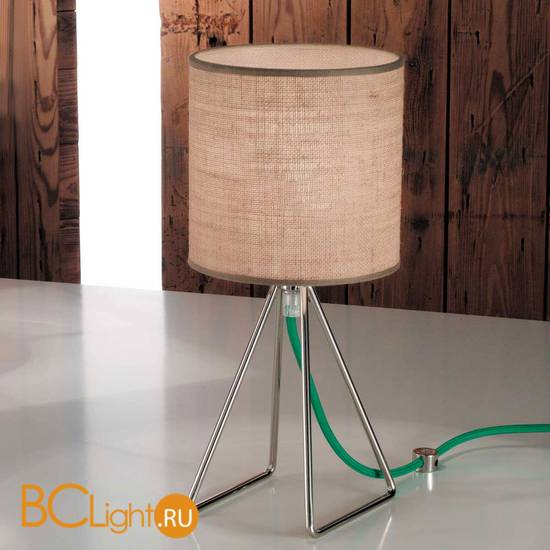 Настольная лампа IDL Seventy 589/1L steel dark jute