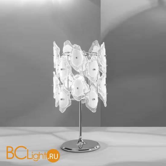 Настольная лампа IDL Sofia 488/1LP Chrome+White
