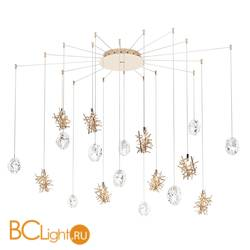 Потолочный светильник IDL Stardust 608SR/10+8 light gold + transparent and light gold