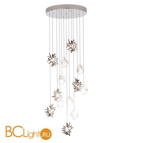 Потолочный светильник IDL Stardust 608R/7+6 pure steel + transparent and pure steel