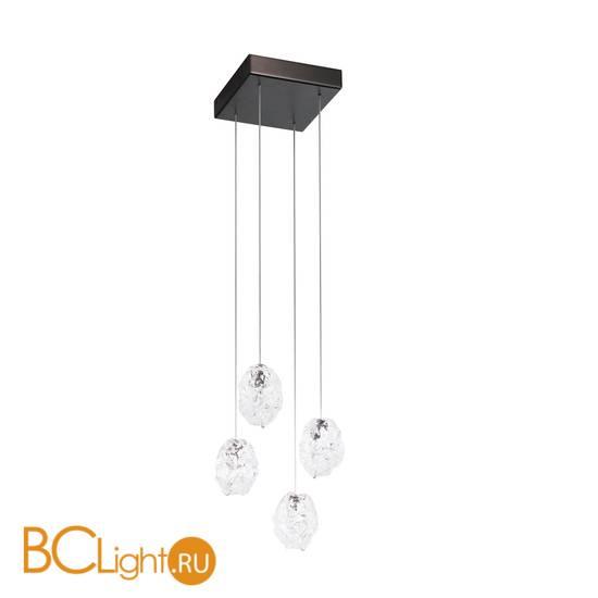 Потолочный светильник IDL Stardust 609/4 brushed matt black nickel + transparent