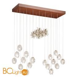 Потолочный светильник IDL Stardust 608/18+6 rusty + transparent glass and pure steel