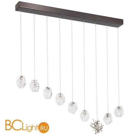 Потолочный светильник IDL Stardust 608/8+1SL black nickel + transparent and pure steel