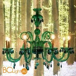 Люстра Italamp 180/8 Green / C / Sw Emerald