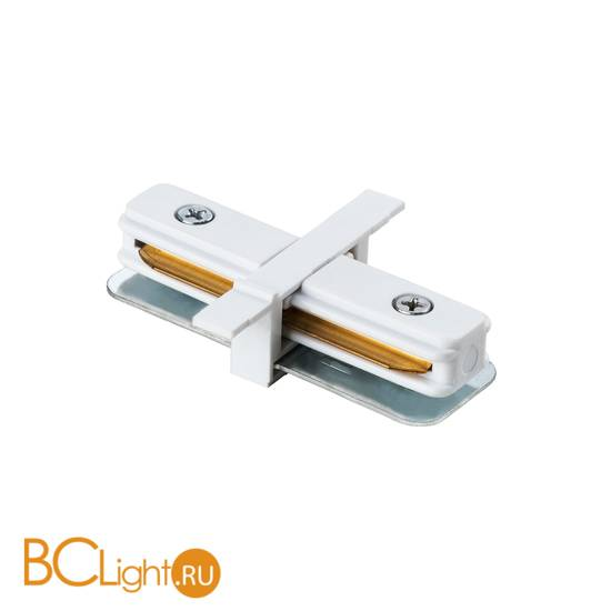 Коннектор прямой для однофазного шинопровода Lightstar Barra 501106 белый