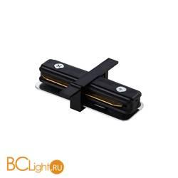 Коннектор прямой для однофазного шинопровода Lightstar Barra 501107 черный