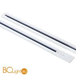 Шинопровод встраиваемый однофазный Lightstar Barra 501015 1м белый с токоподводом и заглушкой