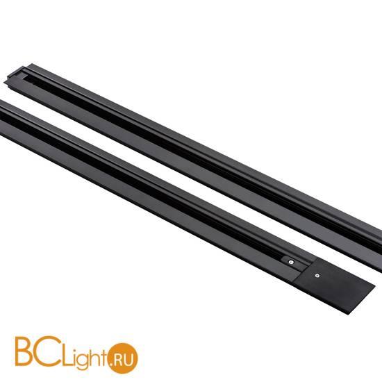 Шинопровод встраиваемый однофазный Lightstar Barra 501018 1м черный с токоподводом и заглушкой