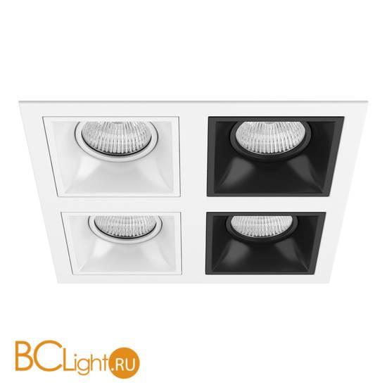 Встраиваемый светильник Lightstar Domino QUADRO МR16 (214546+214506+214506+214507+214507) D54606060707