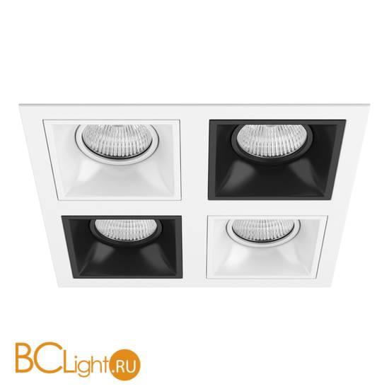 Встраиваемый светильник Lightstar Domino QUADRO МR16 (214546+214506+214507+214506+214507) D54606070607