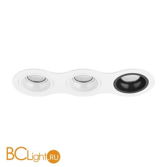 Встраиваемый светильник Lightstar Domino ROUND МR16 (214636+214606+214606+214607) D636060607