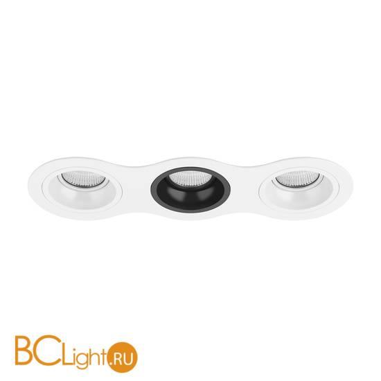 Встраиваемый светильник Lightstar Domino ROUND МR16 (214636+214606+214607+214606) D636060706
