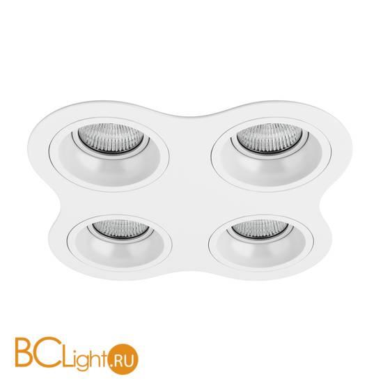 Встраиваемый светильник Lightstar D64606060606 Domino ROUND МR16 (214646+214606+214606+214606+214606)