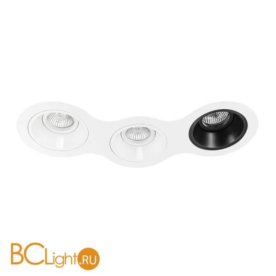 Встраиваемый светильник Lightstar Domino D696060607 ROUND МR16 (214696+214606+214606+214607)