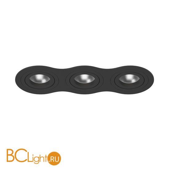 Встраиваемый светильник Lightstar i637070707 INTERO 16 Triple ROUND (217637+217607+217607+217607)